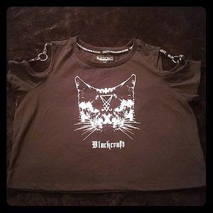 NWOT Blackcraft Cat Crop Top
